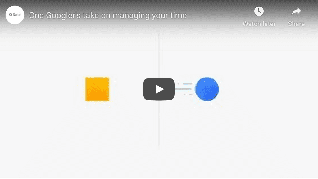 Youtube video on maker time vs. busy time