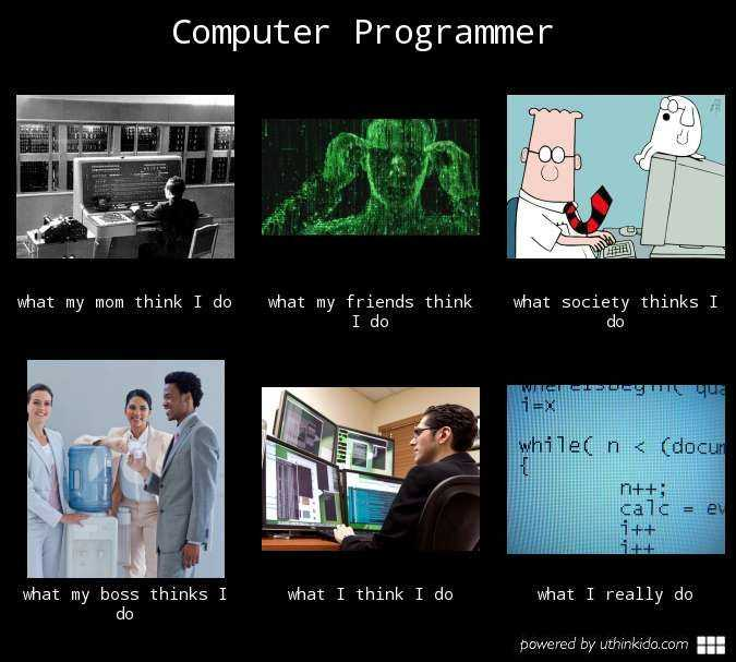 Image Credit - Uthinkido - What people think programming is vs. what it truly is